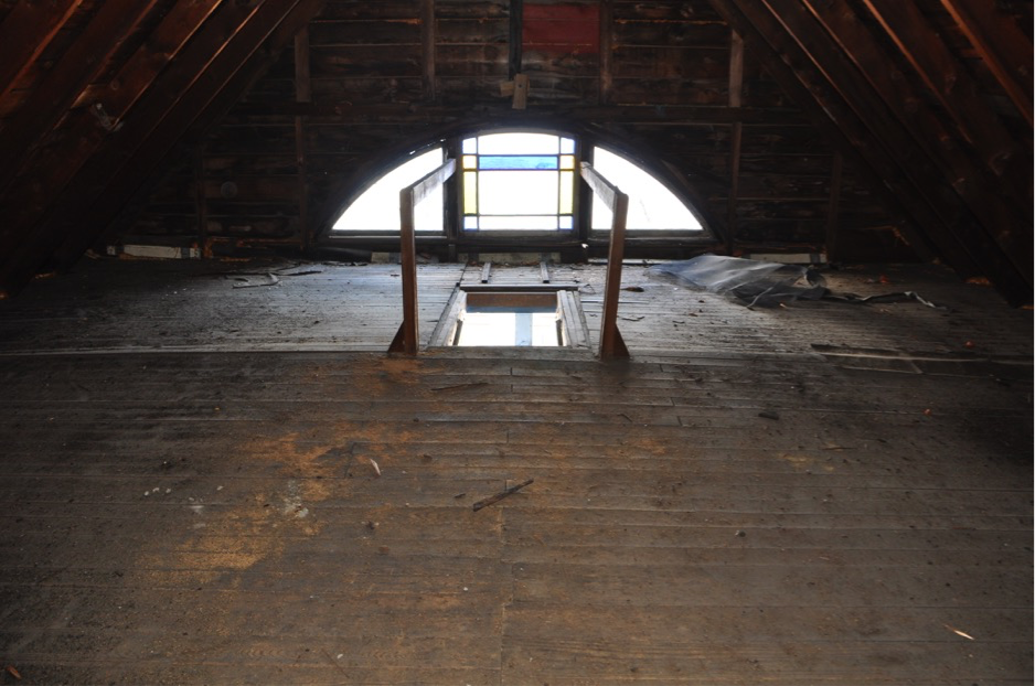 Fig. 6 Unfinished attic space, 9th11th NH Regimental Cottage.